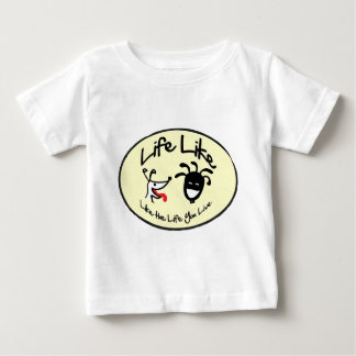 "Yellow ""Life Like Stuff"" Brand Logo Baby T-Shirt"
