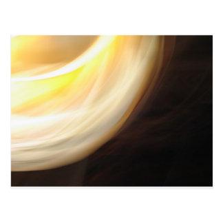 Yellow Light Abstract Photography Postcard