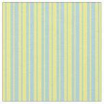 [ Thumbnail: Yellow & Light Blue Striped Pattern Fabric ]
