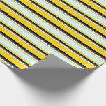 [ Thumbnail: Yellow, Light Cyan, Dark Slate Blue, and Black Wrapping Paper ]