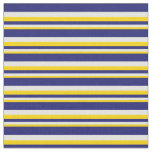 [ Thumbnail: Yellow, Light Cyan & Midnight Blue Colored Lines Fabric ]
