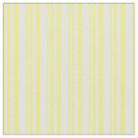 [ Thumbnail: Yellow & Light Cyan Stripes/Lines Pattern Fabric ]