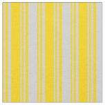 [ Thumbnail: Yellow & Light Grey Colored Striped Pattern Fabric ]