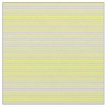 [ Thumbnail: Yellow & Light Grey Pattern of Stripes Fabric ]
