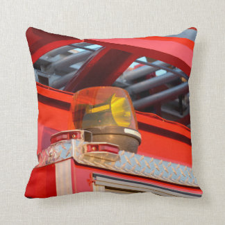 yellow light on fire truck throw pillow