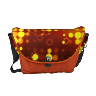 Yellow Light Polka Dot Pattern Messenger Bag