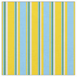 [ Thumbnail: Yellow, Light Sky Blue, Sea Green & Lavender Fabric ]
