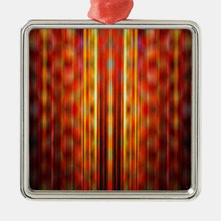 Yellow light streaks pattern metal ornament