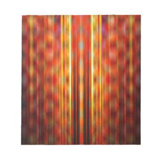 Yellow light streaks pattern notepad