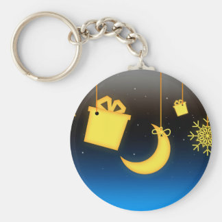 yellow lighting decorations basic round button keychain