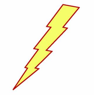 Yellow Lightning Bolt Cutout
