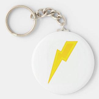 Yellow Lightning Bolt Keychain