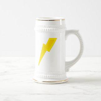 Yellow Lightning Bolt Coffee Mugs