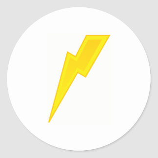Yellow Lightning Bolt Sticker