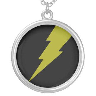Yellow Lightning Round Pendant Necklace