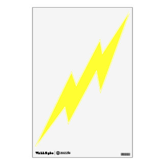 Yellow Lightning Wall Decal