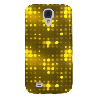 Yellow Lights Polka Dot Pattern Samsung Galaxy S4 Cover