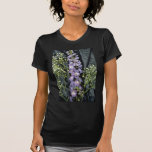 Yellow Lilac stem with baby's breath on blue fabri T Shirts