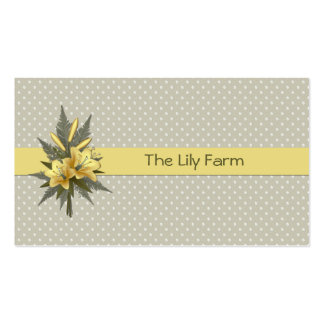 Yellow Lilies Business Card
