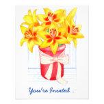 Yellow Lilies Invitation
