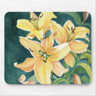 Yellow Lilies Mouse Pad