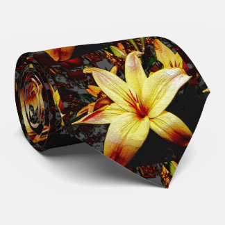 yellow lilies tie