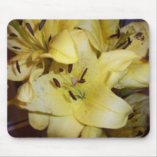 Yellow lillies mouse pad