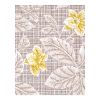Yellow Lillies Vintage Print Scrapbooking Paper Flyer Design