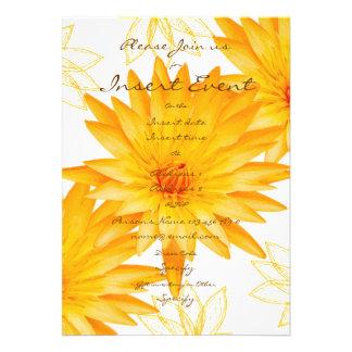 Yellow lillies - wedding invitations customizable