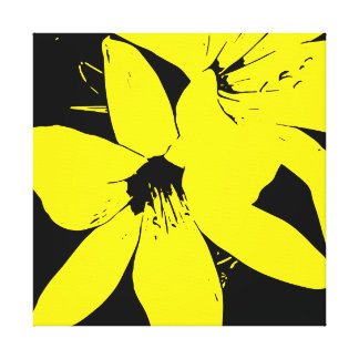 Yellow Lilly Flowers Canvas Print