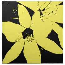 Yellow Lilly Flowers Cloth Napkin