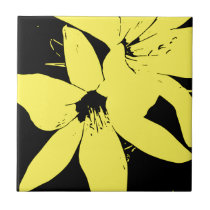 Yellow Lilly Flowers Tile