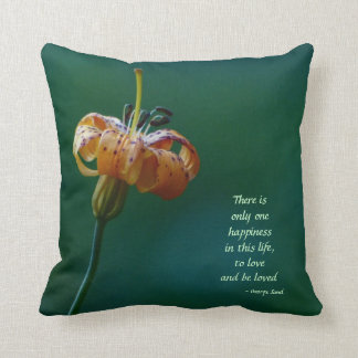 """Yellow Lily 16"""" Square Pillow to Love and Be Loved"""