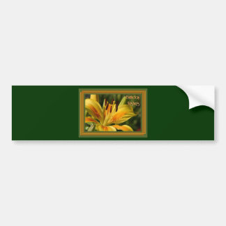 Yellow Lily Birthday Wishes Bumper Stickers