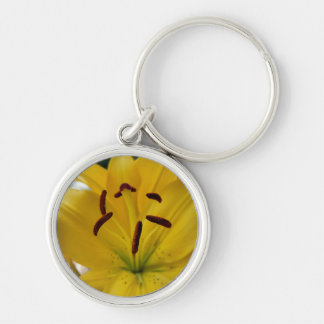 Yellow Lily Curved Petals Keychain