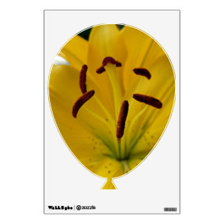 Yellow Lily Curved Petals Wall Decal