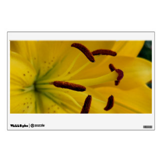 Yellow Lily Curved Petals Wall Sticker