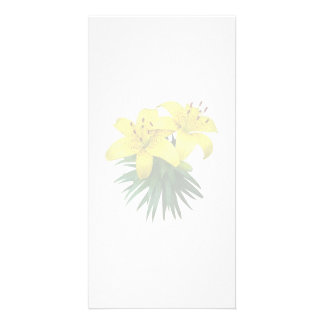 Yellow Lily Duo Photo Cards