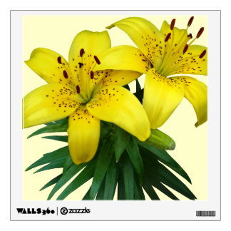 Yellow Lily Duo Room Stickers