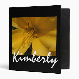Yellow Lily Flower binder