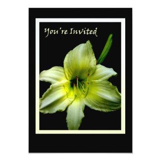yellow lily invitation