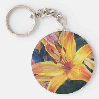 Yellow Lily Keychain