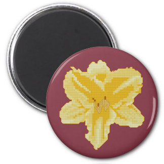 Yellow Lily Refrigerator Magnets