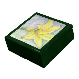 Yellow Lily Painting in Acrylic Gift Box