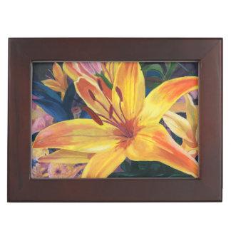 Yellow Lily Keepsake Boxes