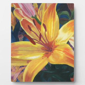 Yellow Lily Plaque