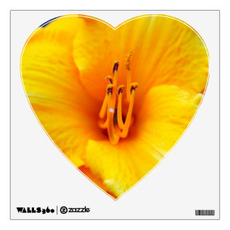 Yellow Lily Pollen Stems Wall Decal