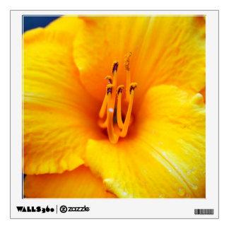 Yellow Lily Pollen Stems Wall Sticker