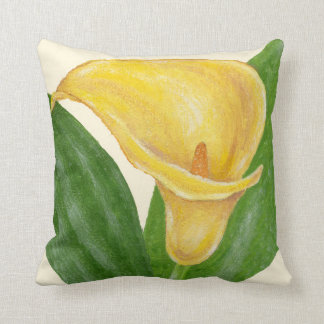 Yellow Lily square pillow