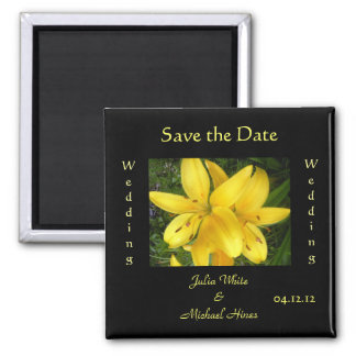 Yellow Lily Wedding Magnet